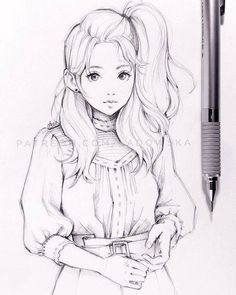 * some others from my gallery: art drawings, art sketches, anime drawings. Anime Drawings Sketches, Girly Drawings, Cool Art Drawings, Pencil Art Drawings, Anime Sketch, Manga Drawing, Cute Drawings Of Girls, Wie Zeichnet Man Manga, Illustration