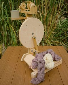 Zephyr Two Treadle Portable Spinning Wheel Plans by Clayton Boyer Intarsia Woodworking, Woodworking Patterns, Woodworking Furniture, Fine Woodworking, Woodworking Projects, Woodworking Videos, Woodworking Organization, Woodworking School, Woodworking Workbench
