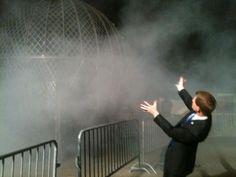 Matt Laubhan, circus ringmaster extraordinaire. He makes his own fog! ha