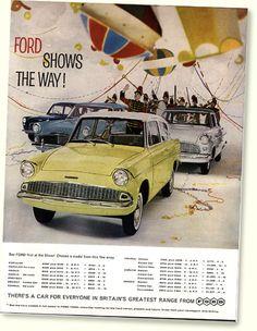 Ford Anglia 105E Standard 1959-63 classic car portrait print Ford Classic Cars, Classic Sports Cars, Car Ford, Ford Trucks, Auto Ford, Ford Motor Company, Car Prints, Ford Anglia, Retro Cars