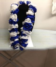 Sashay Team Spirit -  Ruffle Scarf, Indianapolis Colts scarf,NFL,  Brigham Young Cougars scarf, NCAA, Kentucky Wildcats by cmsportscrafts on Etsy