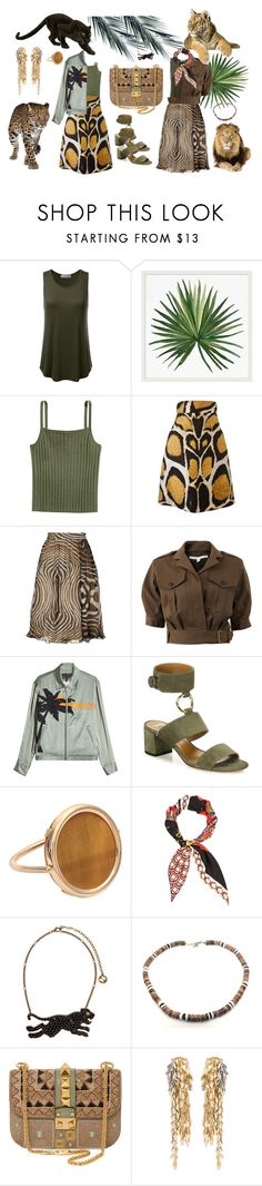 """safari"" by o-ksimm ❤ liked on Polyvore featuring Pottery Barn, Giles, Veronica Beard, rag & bone, Aquazzura, Ginette NY, Gucci, Valentino and Loewe"