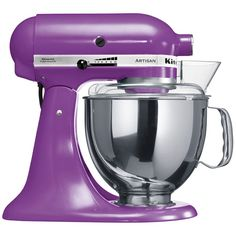 Ohh man I love purple and always wanted a kitchen aid mixer