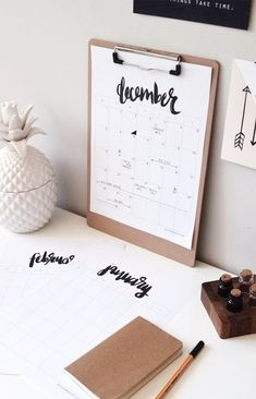 Trendy Ideas For Diy Home  : DIY calendar