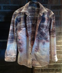 Warm flannel beached grunge shirt. $20.00, via Etsy. With some cutoffs...be killing it!!