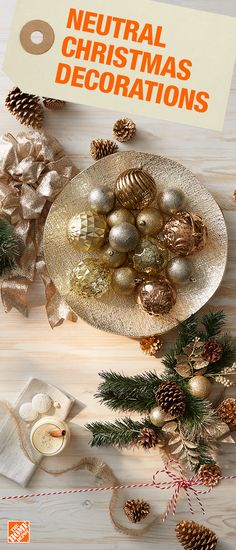 silver metallic gold christmas ornaments christmas tree decorations the home depot
