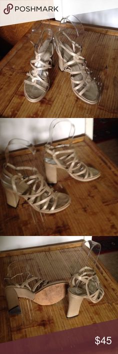 ITALIAN STRAPPY SANDALS by Mima Venezia I saw the price tag for the shoes this was bought for her prom they been worn two or three times at the most MIMA VENEZIA Shoes Sandals