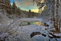 Municipality of Kemijärvi in Finnish Lapland. Ponds, Waterfalls, Rivers, Lakes, Stunts, River, Waterfall