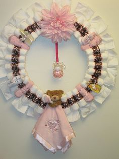Diaper Wreath | Sweet Pea Diaper Wreath-decorated | Flickr - Photo Sharing!