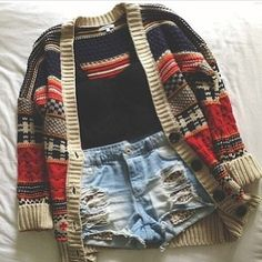 Get this sweater on @Wheretoget or see more #sweater #aztec_print #oversized_cardigan #clothes