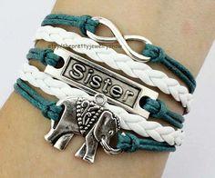 Silvery charm braceletsister by ThePrettyJewelryShow on Etsy, $5.19