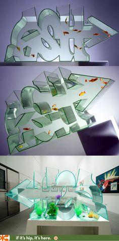 Typographic 3D Graffiti Fish Tank