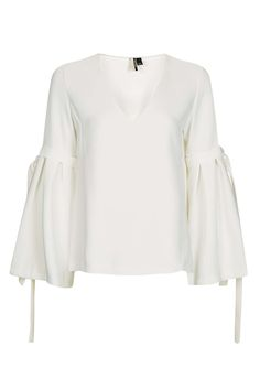 Flute Sleeve Top - Tops - Clothing - Topshop