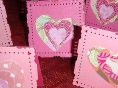 cards or place cards with different cut outs