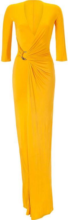 Roberto Cavalli Sunflower Draped Dress thestylecure.com    Covet: Love: want
