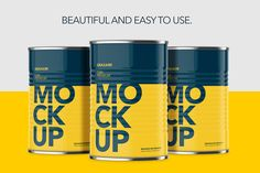 Can With Pull Tap - Front Angle by Graxaim Mock-up on @creativemarket