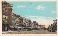 Santa Fe Avenue Salina Kansas Late 1920s Salina Kansas Salina Salina Ks