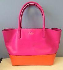 Kate Spade Pink / Orange Tote Purse Madison Park Collection Bag