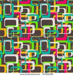 90s Retro Pattern Seamless Background. Vector Illustration