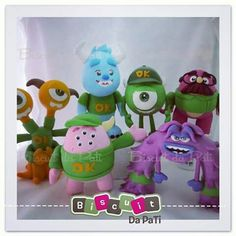 Mike Monsters Inc, Biscuit, Monster University, Pasta Flexible, Yoshi, Disney, Cake Toppers, Polymer Clay, Instagram
