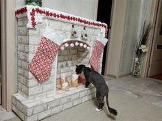 Рождественский новогодний камин своими руками вместе с котом Федором! Мастер класс! - YouTube