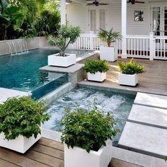 Water features #pool #swimmingpool #waterfeatures #garden
