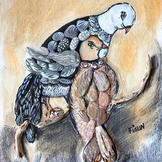 #taşresim #stoneart #handpainted #paintedrock #pebbleart #birds #kuşlar