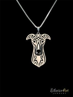 Greyhound jewelry  sterling silver pendant by SiberianArtJewelry, $99.00