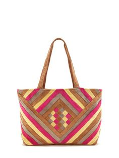Leather Patchwork Tote by Antik Batik at Gilt