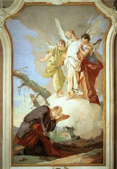 Giovanni Battista Tiepolo - The Three Angels Appearing to Abraham.  Palazzo Patriarcale di Udine