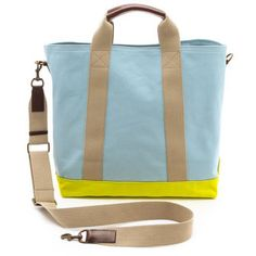 Club Monaco Canvas Beach Tote - This summery canvas tote bag will go everywhere with you