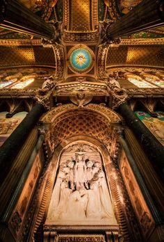 Basilique notre dame de Fourvière, Lyon, France