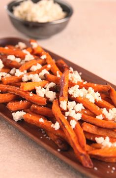 Fries are the perfect late night snack. Just add a drizzle of bleu cheese dressing or bleu cheese crumbles to our Sweet Potato Fries for a sweet & tangy treat! #AlexiaFries