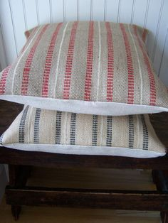 Pillows Covers, Decor Ideas, Tropical Pillows, Sewing Embroidery Projects, Crafts Time, Crafts Diy, Jute Web, Jute Stripes, Stripes Pillows