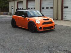 Custom painted Porsche GT3 orange mini cooper