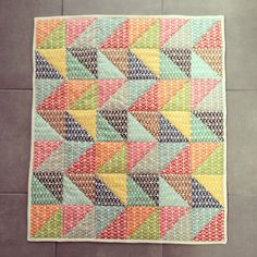 Pezzy Print mini quilt!
