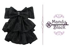 ♥ Black Gate women bow tie ♥ Corbatín para dama Black Gate ♥
