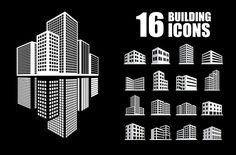 Buildings icons by iconerstock on Creative Market Buildings icons by iconerstock on Creative Market Building Logo, Building Icon, Icon Design, Logo Design, Graphic Design, Brochure Design, Business Brochure, Business Card Logo, Arquitectura Logo
