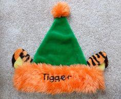 Disney Tigger Santa Christmas Hat Cap Adult Pooh Disneyland Fuzzy Tiger ears Santa Christmas, Tigger, Disneyland, Hats, Holiday, Accessories, Vacations, Hat, Holidays