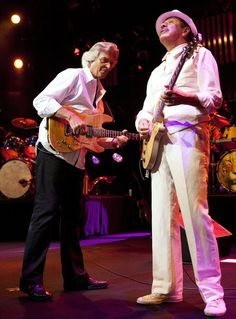 John McLaughlin with Carlos Santana