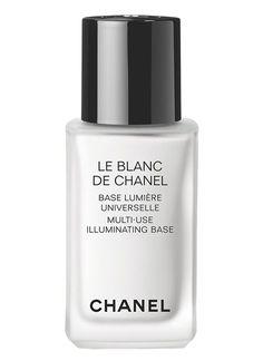 Chanel Le Blanc De Chanel Multi-Use Illuminating Base 1 oz. Chanel Beauty, Chanel Makeup, Kiss Makeup, Face Makeup, Coco Chanel, Best Makeup Primer, Best Makeup Products, Beauty Products, Jeffree Star