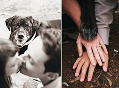 Dogs paw with your hands...cutest thing ever!!!!  100 Unique and Fun Engagement Photo Ideas |