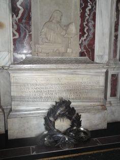 Dante Alighieri's real tomb in Ravenna, Italy.