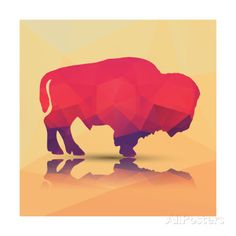 Geometric Polygonal Buffalo, Pattern Design, Vector Illustration Posters by BlueLela at AllPosters.com
