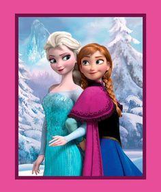 "Disney's Frozen Sisters Forever Baby Quilt Panel 44"" x 36"" Elsa & Anna - Springs"