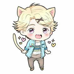 Sweetie!!! Mystic Messenger, Yoosung X Mc, Cute Things From Japan, Saeran, Cool Sketches, Yandere, Kawaii Anime, Chibi, Animation
