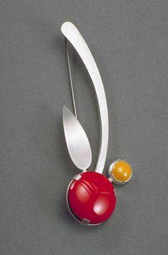Cosmic Orchid enamel, silver heinzbrummel.com