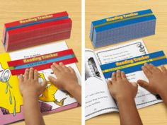 Our handy trackers highlight one line of text at a time…so students can focus on reading without being overwhelmed!