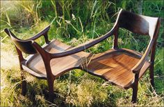 Merveilleux Good Wood Studios ~ Custom Furniture ~ Conversation Chair In Black Walnut