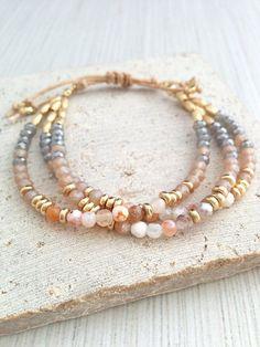 Boho armbanden marmeren armbanden Stone Bead Bracelets